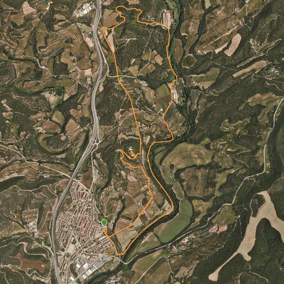 Mapa de la ruta de Balsareny