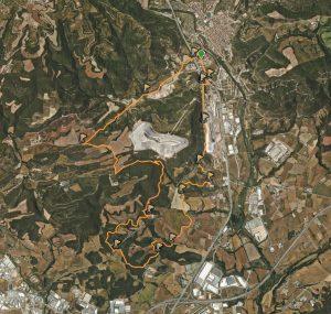 Mapa ruta Sallent